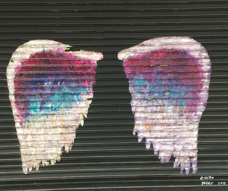 angel wings in downtown los angeles