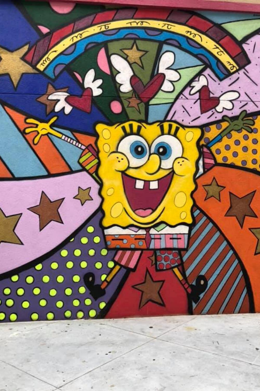 spongebob mural burbank