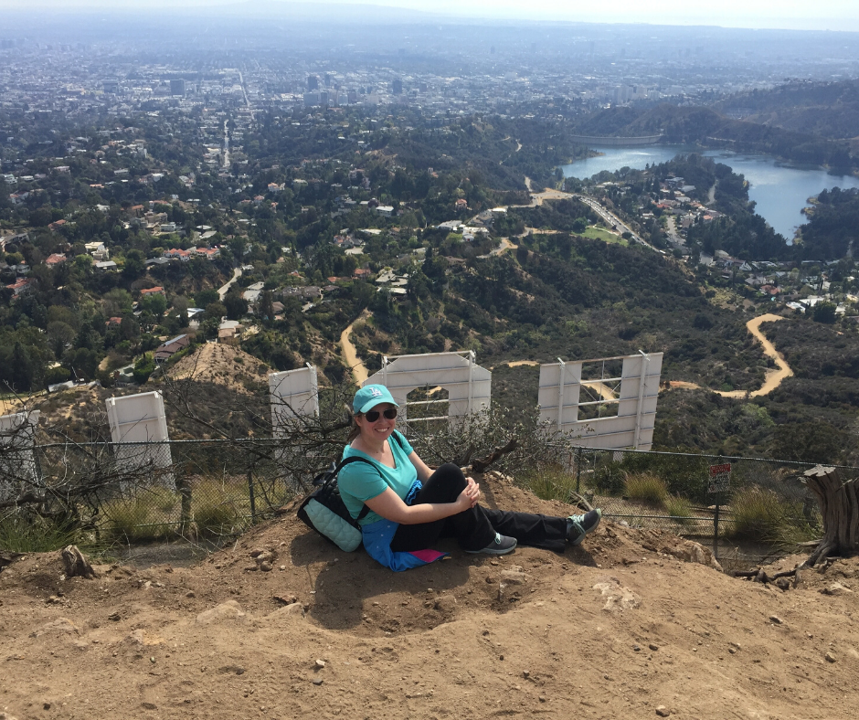the top of the hollywood sign