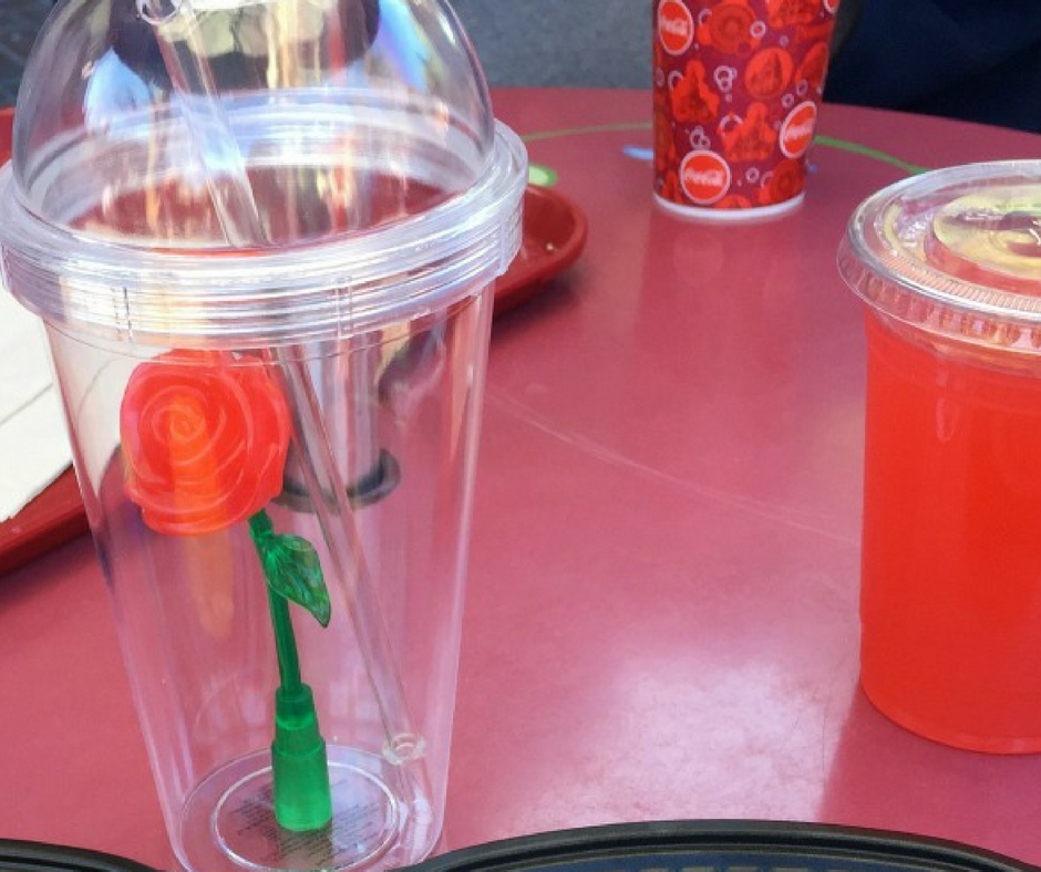 enchanted rose sipper cup