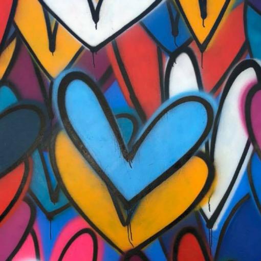 heart wall in venice