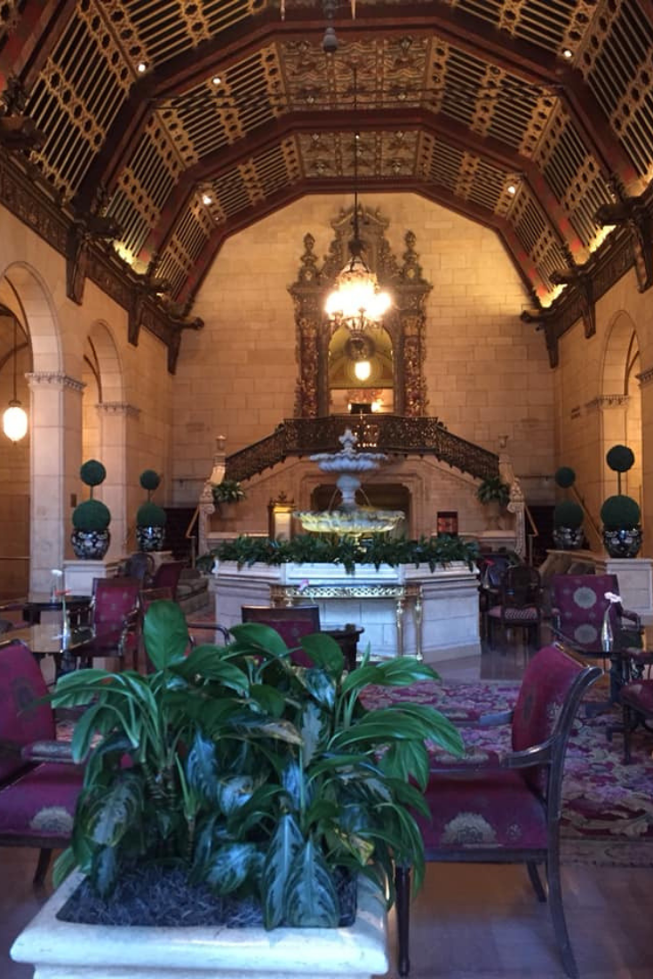 lobby of the millennium biltmore hotel