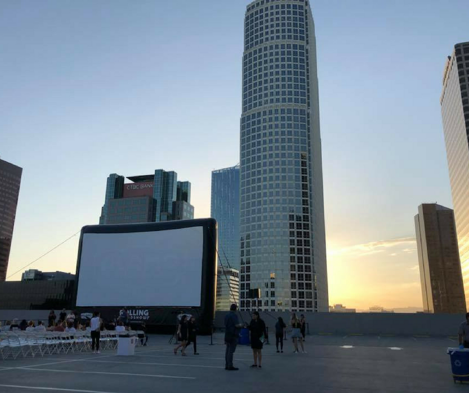 Skyline Sounds and Cinema at The Bloc in Downtown Los Angeles