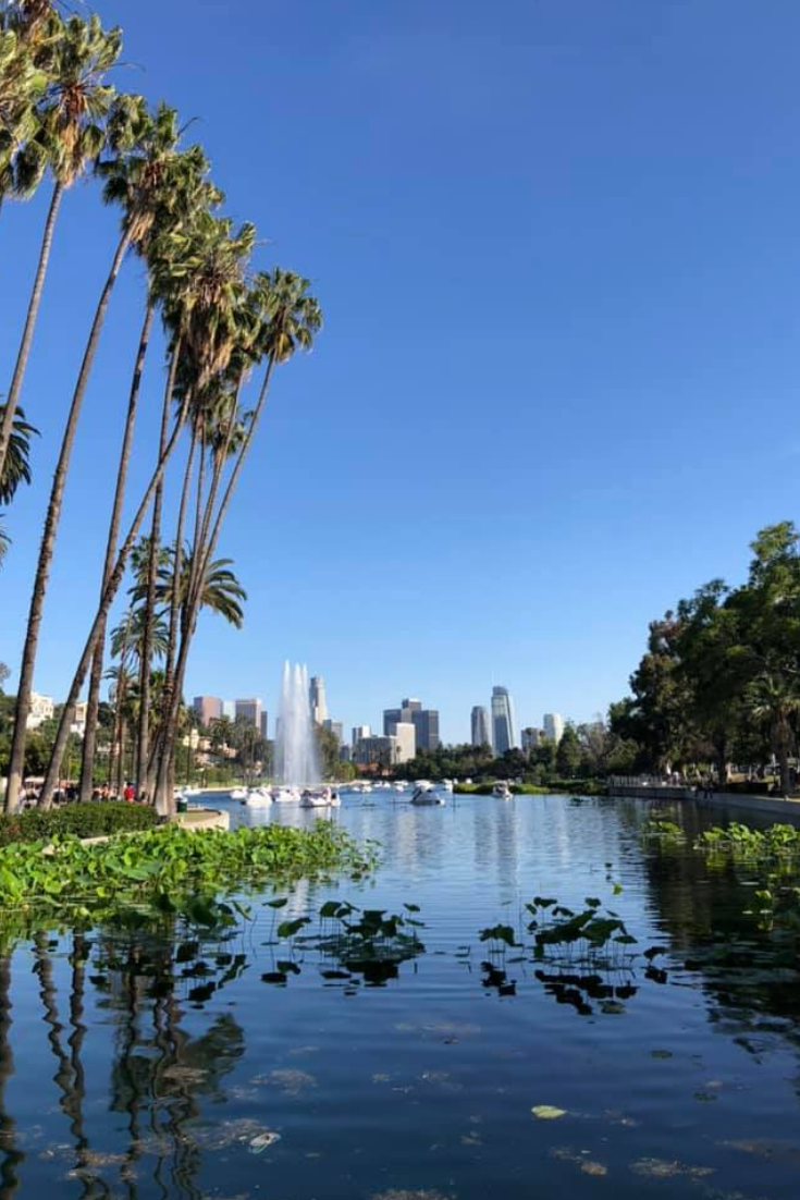 echo park lake los angeles