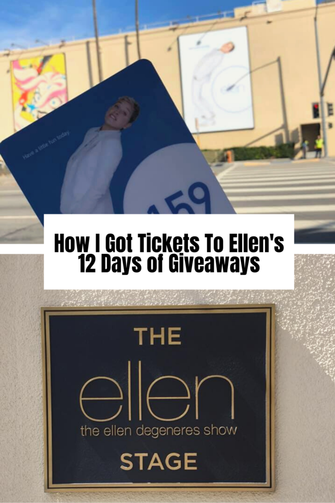 how to get tickets to ellen's 12 days of giveaways