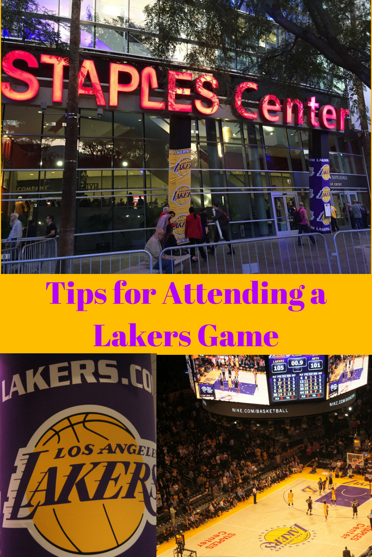 Attending a Los Angeles Lakers Game