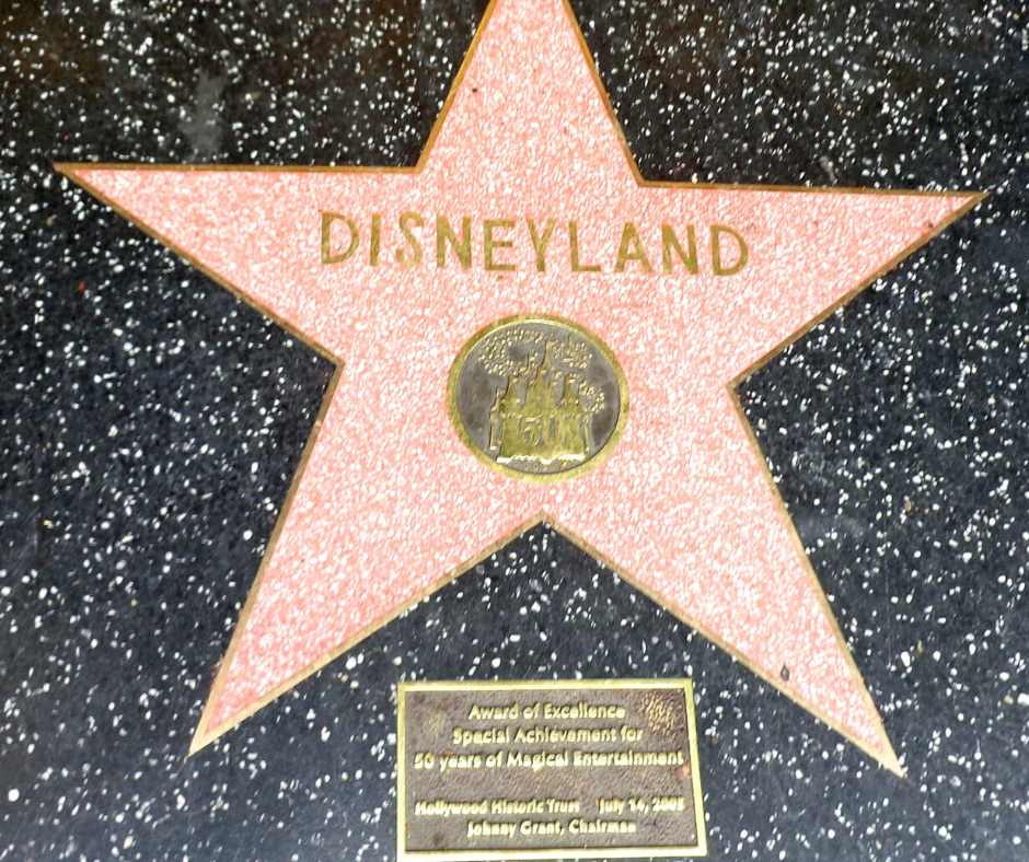 disneyland star on the walk of fame