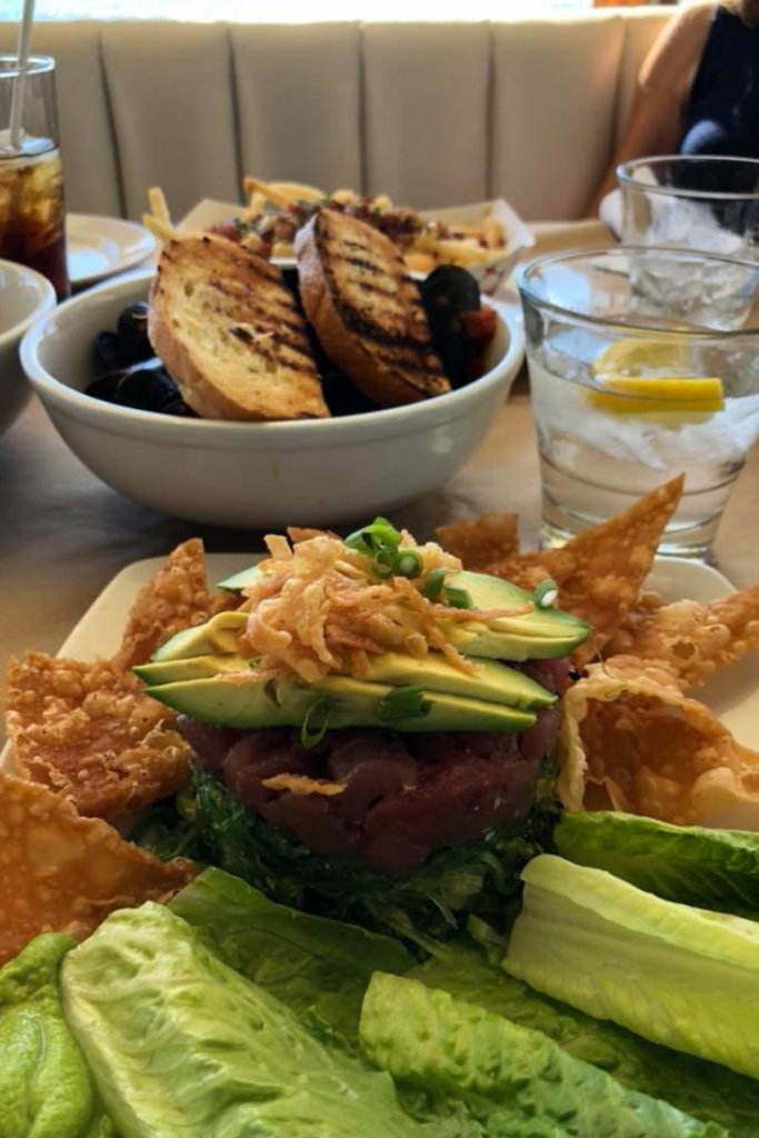 food at the boathouse at hendry's beach