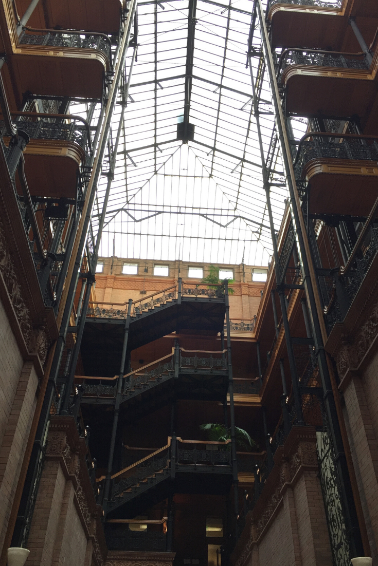 The Bradbury Building in Downtown Los Angeles