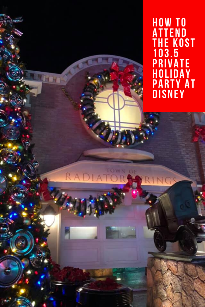 kost 1035 private holiday party at disneyland