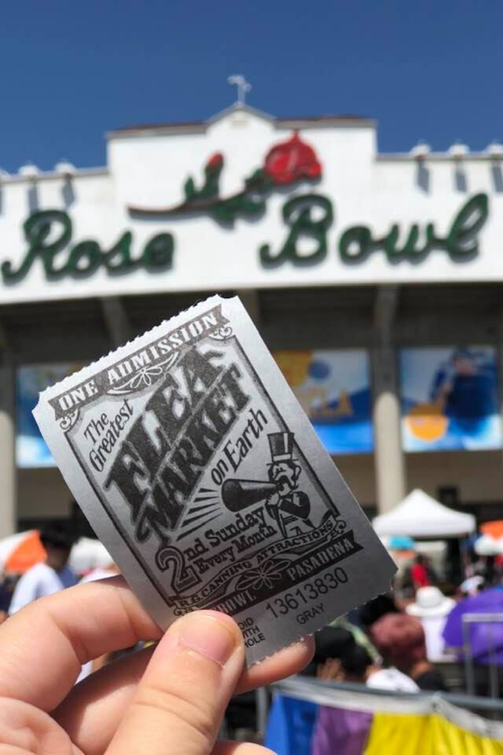 flea market at the rose bowl