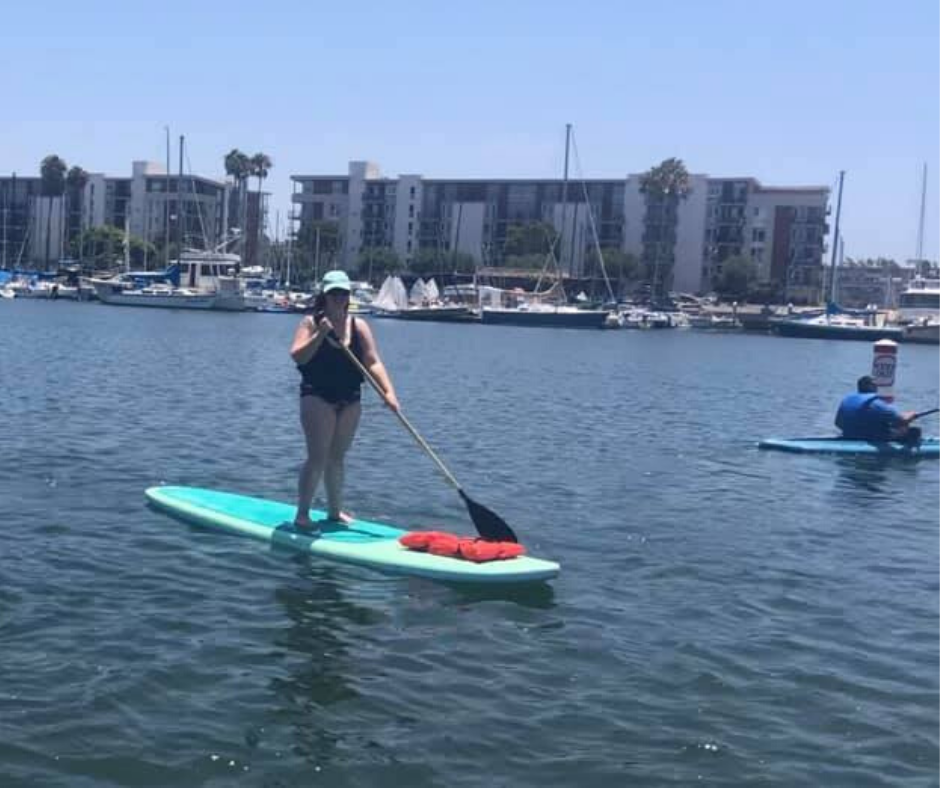 paddle boarding in marina del rey