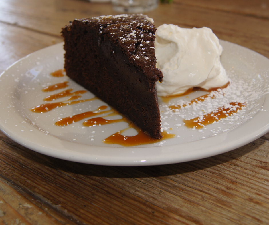 Grilled Chocolate Cake with Salted Caramel