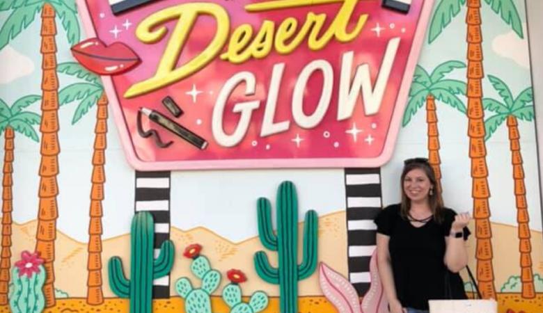 working on my desert glow mural