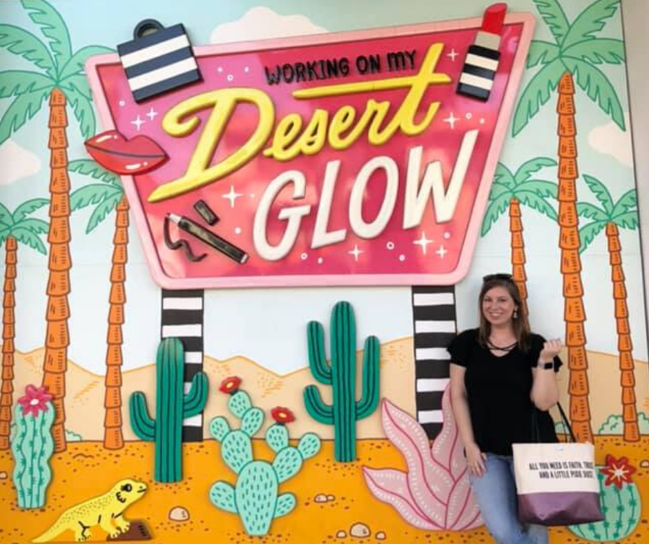 working on my desert glow mural