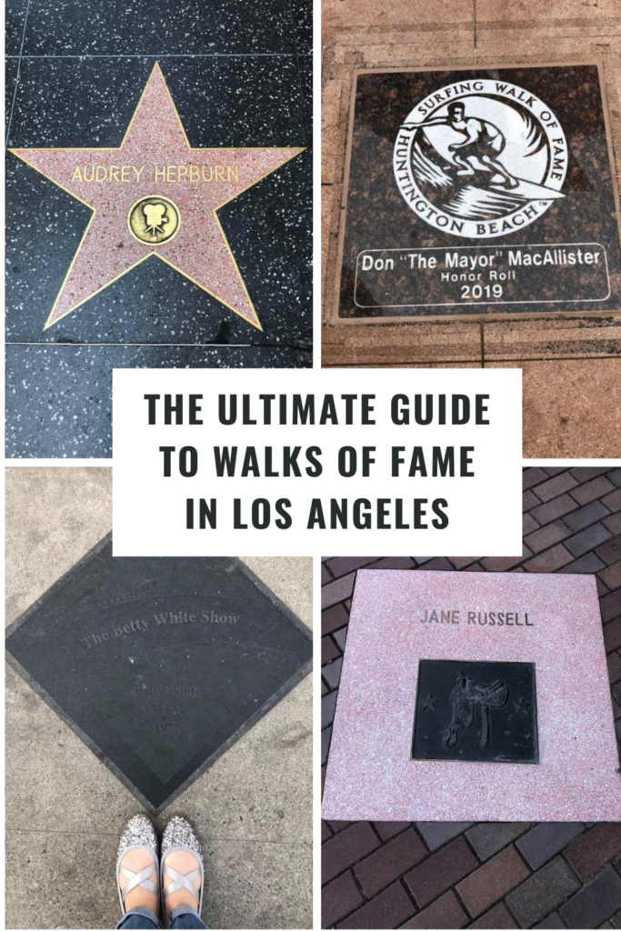 walks of fame in los angeles